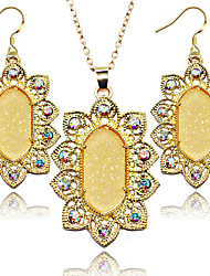 cheap -2016 New Arrival Fashion Jewelry Set Oval Shinny Fluorescent Color Women Jewelry Set
