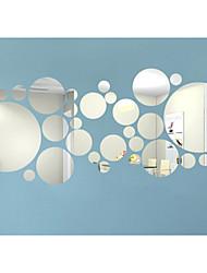 Недорогие -3D Наклейки Зеркальные стикеры Декоративные наклейки на стены, Винил Украшение дома Наклейка на стену Стена
