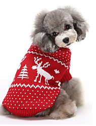 cheap -Cat Dog Sweater Winter Dog Clothes Red Blue Costume Cotton Reindeer Keep Warm Christmas XS S M L XL XXL