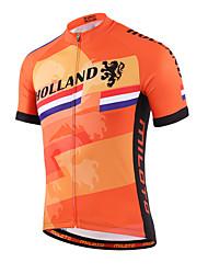 cheap -Miloto Men's Women's Short Sleeve Cycling Jersey Coolmax® Polyester Plus Size Bike Shirt Sweatshirt Jersey Mountain Bike MTB Road Bike Cycling Breathable Quick Dry Reflective Strips Sports Clothing