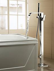Недорогие -смеситель для ванны - современный / современный хромированный смеситель для ванны и душа, смеситель для ванны / две ручки, два отверстия