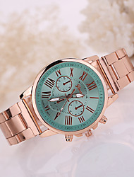cheap -Geneva Women's Wrist Watch Gold Watch Quartz Stainless Steel Gold Casual Watch / Analog Ladies Casual Fashion - Mint Green Navy Light Blue One Year Battery Life / Tianqiu 377