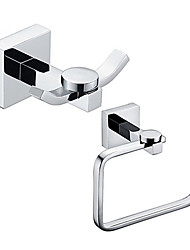 cheap -Bathroom Accessory Set / Toilet Paper Holder / Robe Hook / Chrome / Wall Mounted /Toilet roll holder/Brass /Contemporary