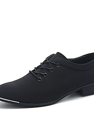 cheap -Men's Suede Shoes Stretch Satin Spring / Fall Casual Oxfords Running Shoes Slip Resistant Black / Blue / Lace-up / Comfort Shoes
