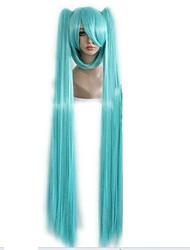 Недорогие -Парики из искусственных волос Маскарадные парики Прямой Стиль С конским хвостом Без шапочки-основы Парик Зеленый Искусственные волосы Жен. Зеленый Парик hairjoy