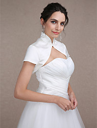 cheap -Short Sleeve Shrugs Satin Wedding / Party Evening Wedding  Wraps With