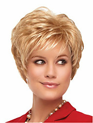 cheap -Synthetic Wig Straight Natural Wave Natural Wave Asymmetrical Wig Blonde Short Blonde Synthetic Hair Women's Natural Hairline Blonde