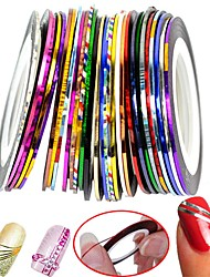 cheap -30 pcs Nail Foil Striping Tape nail art Manicure Pedicure Classic Daily / Foil Stripping Tape