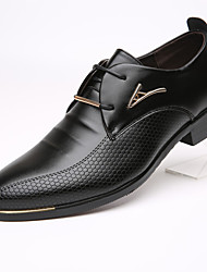 cheap -Men's Oxfords Dress Shoes Derby Shoes Business Daily Office & Career PU Wear Proof Black / Brown Spring / Fall / EU40