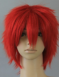 cheap -Cosplay Costume Wig Synthetic Wig Cosplay Wig Curly Curly Wig Short Red Synthetic Hair Women's Red hairjoy