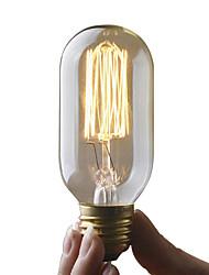 Недорогие -umei ™ 1 шт. 40 Вт e26 / e27 t45 edsion лампочка теплый белый 2300 К лампа накаливания в винтажном стиле Edison AC 110-130 В переменного тока 220-240 В