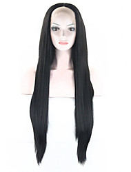 cheap -Synthetic Wig Straight Straight Wig Black Synthetic Hair Black