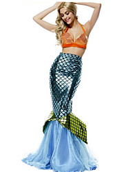 cheap -Mermaid Tail Fairytale Cosplay Costume Party Costume Women's Sexy Uniforms Christmas Halloween Carnival Festival / Holiday Terylene Women's Carnival Costumes Color Block / Hat