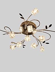 cheap -11 Bulbs LWD 90 cm Crystal Flush Mount Lights Metal Glass Others Modern Contemporary 110-120V / 220-240V / G4