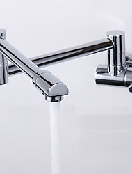 cheap -Contemporary Wall Mounted Rotatable Ceramic Valve One Hole Single Handle One Hole Chrome, Kitchen faucet