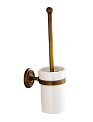 cheap -Toilet Brush Holder Set Antique Brass Wall Mounted Bathroom Accessories 1pc