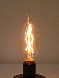 cheap -1pc 40 W E14 C35L Warm White 2300 k Retro / Dimmable / Decorative Incandescent Vintage Edison Light Bulb 220-240 V