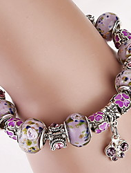 cheap -Women's Crystal Charm Bracelet Bead Bracelet Crystal Bracelet Beaded Ladies Fashion Synthetic Gemstones Bracelet Jewelry Purple For Christmas Gifts