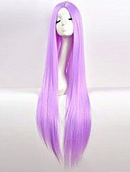 cheap -Synthetic Wig Cosplay Wig Straight kinky Straight kinky straight Straight Asymmetrical Wig Long Purple Synthetic Hair Women's Natural Hairline Middle Part Purple