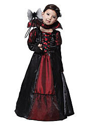 cheap -Vampire Cosplay Costume Party Costume Kid's Girls' Christmas Halloween Carnival Festival / Holiday Terylene Black Female Carnival Costumes Vintage