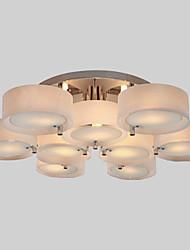 abordables -Montage du flux Lumière d'ambiance Chrome Métal Acrylique Style mini 110-120V / 220-240V Ampoule non incluse / E26 / E27