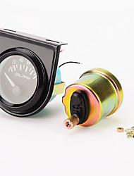 """Недорогие -iztoss 0-100 фунтов на квадратный дюйм линии 2 """"механический манометр давления масла (черный циферблат, черный ободок, белый светодиод)"""