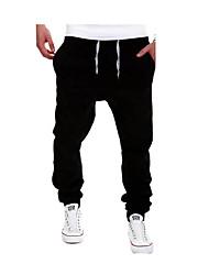 cheap -Men's Active Plus Size Daily Sports Weekend Sweatpants Pants - Solid Colored Light Blue Khaki Royal Blue XL XXL XXXL