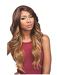 cheap -Synthetic Wig Body Wave Body Wave Wig Long Dark Brown Synthetic Hair Brown