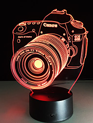 cheap -3D Nightlight Remote Control / RC Color-Changing Small Artistic LED Modern Contemporary 1 pc