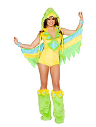 cheap -Parrot Cosplay Costume Party Costume Unisex Sexy Uniforms More Uniforms Halloween Carnival New Year Festival / Holiday Terylene Carnival Costumes Color Block