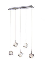 "cheap -MAISHANG® 5-Light 65(25"") Crystal Pendant Light Metal Cluster Chrome Modern Contemporary 110-120V / 220-240V"