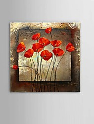 cheap -Oil Painting Hand Painted Horizontal Abstract Still Life Fantasy Classic Modern Pastoral With Stretched Frame 60x60cm