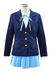 cheap -Inspired by K-ON Hirasawa Yui Anime Cosplay Costumes Japanese Cosplay Suits / School Uniforms Solid Colored Long Sleeve Cravat / Coat / Shirt For Women's