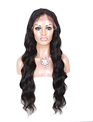 cheap -Human Hair Glueless Lace Front Lace Front Wig style Brazilian Hair Body Wave Natural Black Wig 130% Density 14-26 inch with Baby Hair Natural Hairline African American Wig 100% Hand Tied Women's