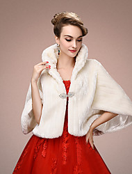 cheap -Faux Fur Wedding / Party Evening Women's Wrap With Tiered Shrugs
