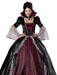 cheap -Vampire Dress Cosplay Costume Party Costume Adults' Women's Christmas Halloween Carnival Festival / Holiday Terylene Red / black Female Carnival Costumes Vintage