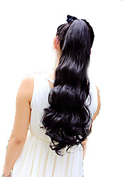 cheap -Ponytails Human Hair Hair Piece Hair Extension Curly / Natural Wave Daily