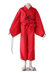 cheap -Inspired by InuYasha Kiba Inuzuka Anime Cosplay Costumes Japanese Cosplay Suits Solid Colored Long Sleeve Pants Belt More Accessories For Men's / Kimono Coat / Kimono Coat