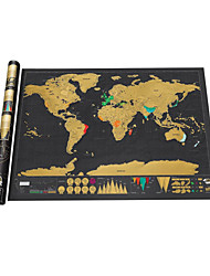Недорогие -1 pcs Семья Карты Scratch Map Пазлы карта Веселье Огромный Бумага Классика Детские Взрослые Игрушки Подарок