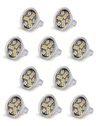 cheap -1.5 W LED Spotlight 100-150 lm GU4 MR11 9 LED Beads SMD 5050 Decorative Warm White Cold White 12 V / 10 pcs / RoHS