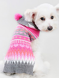 cheap -Cat Dog Costume Coat Sweater Winter Dog Clothes Black Rose Costume Stripes British Skull Cosplay Holiday Keep Warm XXS XS S M L / Hoodie