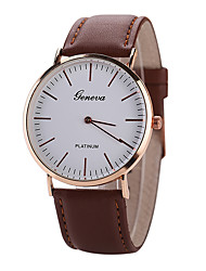 cheap -Geneva Men's Wrist Watch Quartz Casual Casual Watch Analog Black Brown / Leather / One Year / Tianqiu 377