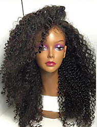 cheap -Synthetic Lace Front Wig Curly Kinky Curly Lace Front Wig Long Light Brown Medium Brown Jet Black Dark Brown Natural Black Synthetic Hair Women's Natural Hairline African American Wig Black