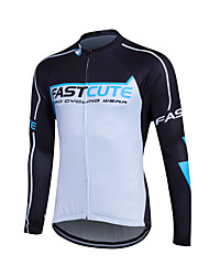 cheap -Fastcute Men's Women's Unisex Long Sleeve Cycling Jersey - Kid's Winter Coolmax® Polyester Bike Sweatshirt Jersey Top Breathable Quick Dry Reflective Strips Sports Clothing Apparel / Stretchy
