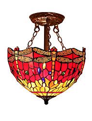 cheap -Flush Mount Ambient Light - LED Designers, Tiffany, 110-120V 220-240V Bulb Not Included