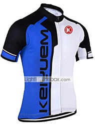 cheap -KEIYUEM Men's Women's Short Sleeve Cycling Jersey Coolmax® Silicon Red Green Blue Bike Jersey Top Breathable Quick Dry Ultraviolet Resistant Sports Clothing Apparel / Stretchy / Back Pocket