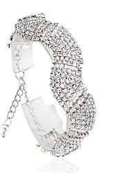 cheap -Women's Tennis Bracelet Fashion Alloy Bracelet Jewelry Silver / Golden For Wedding
