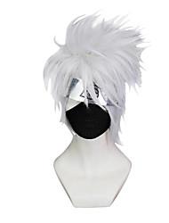 cheap -Naruto Hatake Kakashi Cosplay Wigs Men's 10 inch Synthetic Fiber Anime Wig