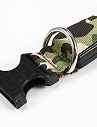 cheap -Cat Dog Collar Glowing Pet Collar Adjustable / Retractable Waterproof Safety Camo / Camouflage Nylon