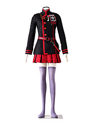 cheap -Inspired by D.Gray-man Lenalee Lee Anime Cosplay Costumes Japanese Cosplay Suits Solid Colored Long Sleeve Coat Skirt Waist Accessory For Women's / Necklace / Belt / Stockings / Bag